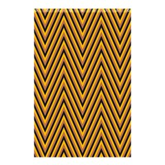 Chevron Brown Retro Vintage Shower Curtain 48  X 72  (small)  by Nexatart