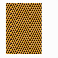 Chevron Brown Retro Vintage Large Garden Flag (two Sides)