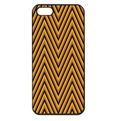 Chevron Brown Retro Vintage Apple Iphone 5 Seamless Case (black)