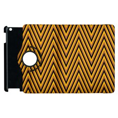Chevron Brown Retro Vintage Apple Ipad 3/4 Flip 360 Case by Nexatart
