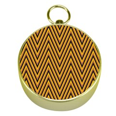 Chevron Brown Retro Vintage Gold Compasses by Nexatart
