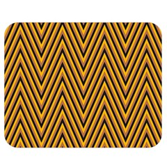 Chevron Brown Retro Vintage Double Sided Flano Blanket (medium)  by Nexatart