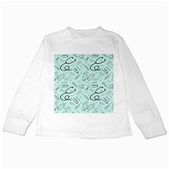 Pattern Medicine Seamless Medical Kids Long Sleeve T Shirts