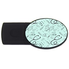 Pattern Medicine Seamless Medical Usb Flash Drive Oval (4 Gb) by Nexatart