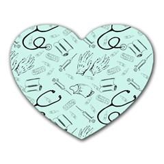 Pattern Medicine Seamless Medical Heart Mousepads
