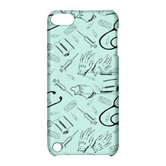 Pattern Medicine Seamless Medical Apple Ipod Touch 5 Hardshell Case With Stand