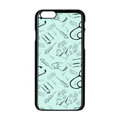 Pattern Medicine Seamless Medical Apple Iphone 6/6s Black Enamel Case