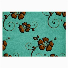 Chocolate Background Floral Pattern Large Glasses Cloth by Nexatart