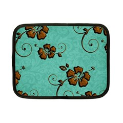Chocolate Background Floral Pattern Netbook Case (small)  by Nexatart