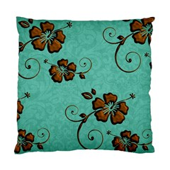 Chocolate Background Floral Pattern Standard Cushion Case (one Side) by Nexatart