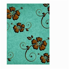 Chocolate Background Floral Pattern Large Garden Flag (two Sides)