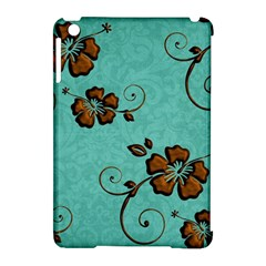 Chocolate Background Floral Pattern Apple Ipad Mini Hardshell Case (compatible With Smart Cover) by Nexatart