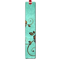 Chocolate Background Floral Pattern Large Book Marks