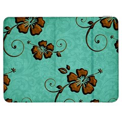 Chocolate Background Floral Pattern Samsung Galaxy Tab 7  P1000 Flip Case
