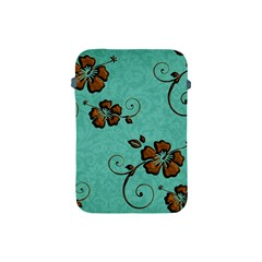 Chocolate Background Floral Pattern Apple Ipad Mini Protective Soft Cases by Nexatart