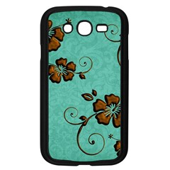 Chocolate Background Floral Pattern Samsung Galaxy Grand Duos I9082 Case (black) by Nexatart