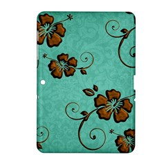 Chocolate Background Floral Pattern Samsung Galaxy Tab 2 (10 1 ) P5100 Hardshell Case