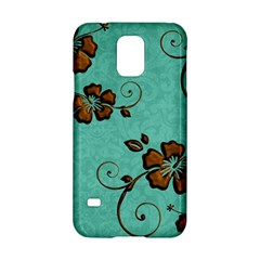 Chocolate Background Floral Pattern Samsung Galaxy S5 Hardshell Case  by Nexatart