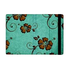 Chocolate Background Floral Pattern Ipad Mini 2 Flip Cases