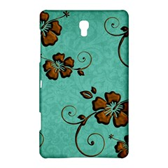 Chocolate Background Floral Pattern Samsung Galaxy Tab S (8 4 ) Hardshell Case