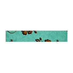 Chocolate Background Floral Pattern Flano Scarf (mini) by Nexatart