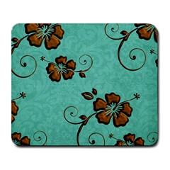 Chocolate Background Floral Pattern Large Mousepads by Nexatart