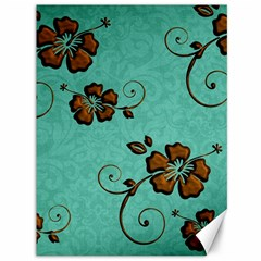 Chocolate Background Floral Pattern Canvas 36  X 48   by Nexatart