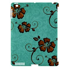 Chocolate Background Floral Pattern Apple Ipad 3/4 Hardshell Case (compatible With Smart Cover) by Nexatart