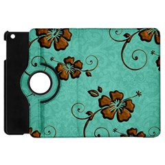 Chocolate Background Floral Pattern Apple Ipad Mini Flip 360 Case