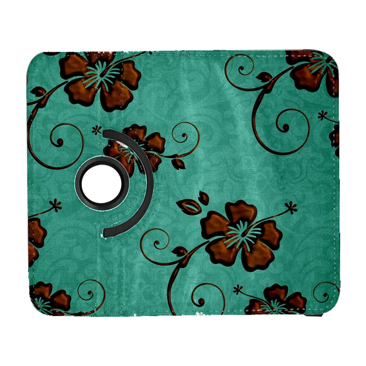 Chocolate Background Floral Pattern Galaxy S3 (Flip/Folio)
