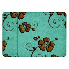 Chocolate Background Floral Pattern Samsung Galaxy Tab 8 9  P7300 Flip Case