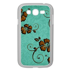 Chocolate Background Floral Pattern Samsung Galaxy Grand Duos I9082 Case (white) by Nexatart