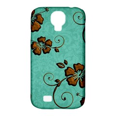 Chocolate Background Floral Pattern Samsung Galaxy S4 Classic Hardshell Case (pc+silicone) by Nexatart