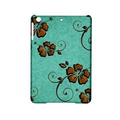 Chocolate Background Floral Pattern Ipad Mini 2 Hardshell Cases
