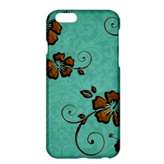 Chocolate Background Floral Pattern Apple Iphone 6 Plus/6s Plus Hardshell Case