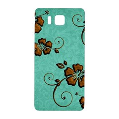 Chocolate Background Floral Pattern Samsung Galaxy Alpha Hardshell Back Case