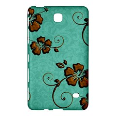 Chocolate Background Floral Pattern Samsung Galaxy Tab 4 (8 ) Hardshell Case  by Nexatart