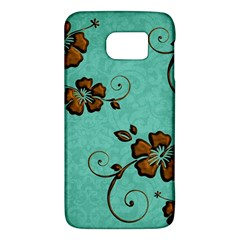 Chocolate Background Floral Pattern Galaxy S6