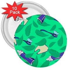 Pattern Seamless Background Desktop 3  Buttons (10 Pack)
