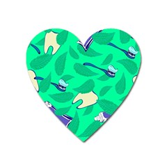 Pattern Seamless Background Desktop Heart Magnet by Nexatart