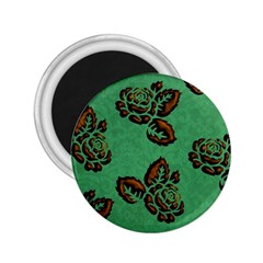 Chocolate Background Floral Pattern 2 25  Magnets