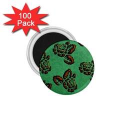 Chocolate Background Floral Pattern 1 75  Magnets (100 Pack)
