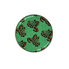 Chocolate Background Floral Pattern Hat Clip Ball Marker (10 Pack)