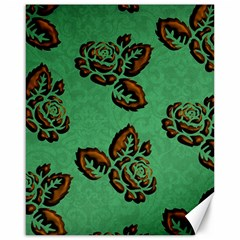 Chocolate Background Floral Pattern Canvas 16  X 20