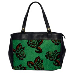 Chocolate Background Floral Pattern Office Handbags