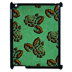 Chocolate Background Floral Pattern Apple Ipad 2 Case (black)