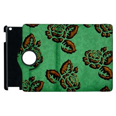 Chocolate Background Floral Pattern Apple Ipad 2 Flip 360 Case