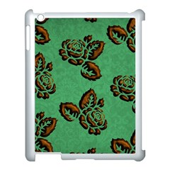 Chocolate Background Floral Pattern Apple Ipad 3/4 Case (white) by Nexatart