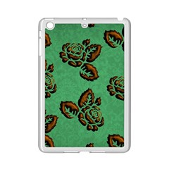 Chocolate Background Floral Pattern Ipad Mini 2 Enamel Coated Cases by Nexatart