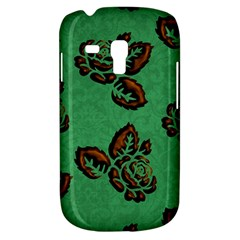 Chocolate Background Floral Pattern Galaxy S3 Mini by Nexatart